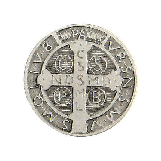 Spilla San Benedetto argento 925 4