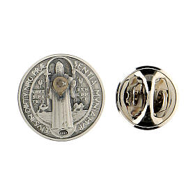 Spilla San Benedetto argento 925 s3