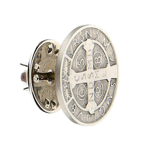Spilla San Benedetto argento 925 2