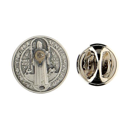 Spilla San Benedetto argento 925 3