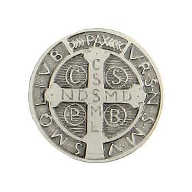 Broche Medalha São Bento prata 925