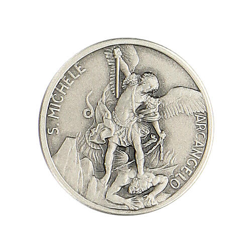 Spilla San Michele argento 925 1