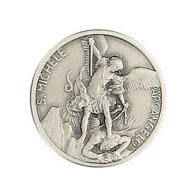 Broche São Miguel Arcanjo prata 925