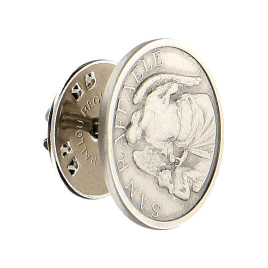 Spilla San Raffaele argento 925 4