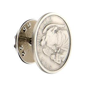 Broche São Rafael Arcanjo prata 925