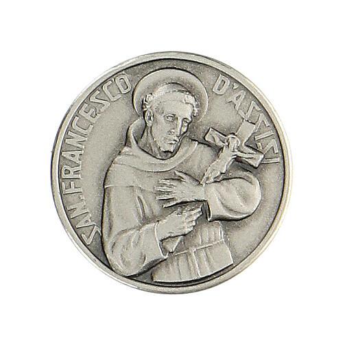 Spilla San Francesco argento 925 1