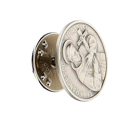 Spilla San Francesco argento 925 2