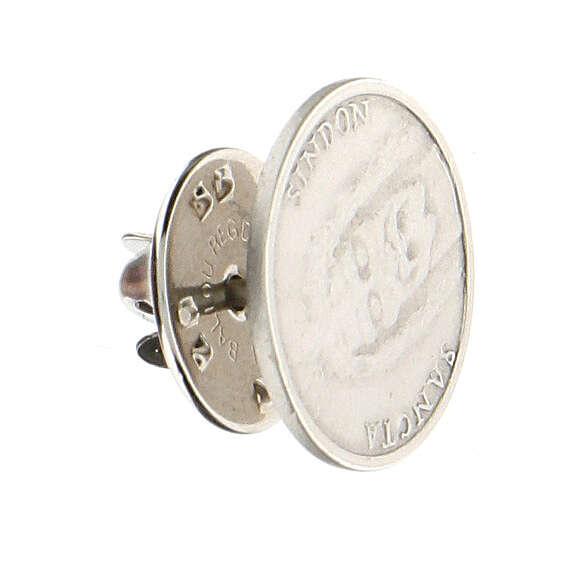 Broche Sainte Face argent 925 4