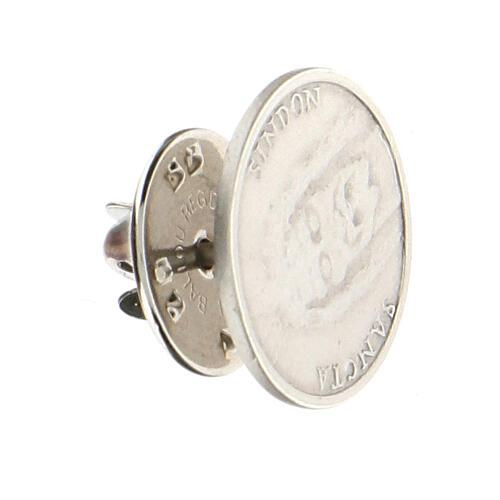 Broche Sainte Face argent 925 3
