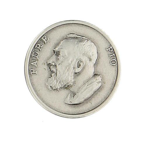 Broche Padre Pio argent 925 1