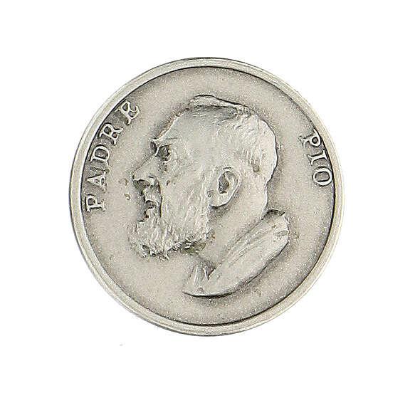 Spilla Padre Pio argento 925 4