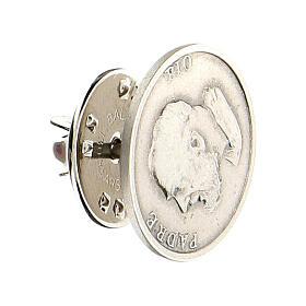 Spilla Padre Pio argento 925 s2