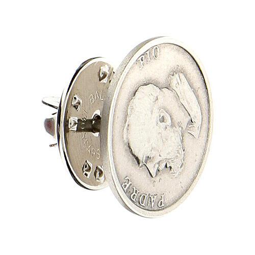 Spilla Padre Pio argento 925 2