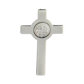Spilla croce San Benedetto argento 925 s1