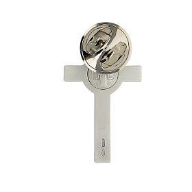 Spilla croce San Benedetto argento 925 s4