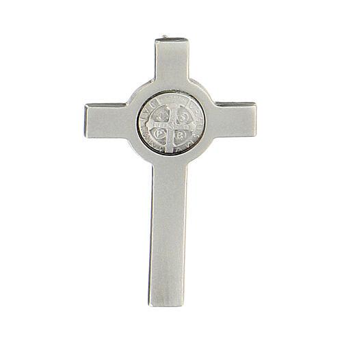 Spilla croce San Benedetto argento 925 1