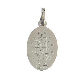 Pingente Medalha Milagrosa francês 1,7 cm prata 925