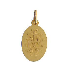Pingente Medalha Milagrosa ouro amarelo 14K 2x1,5 cm 2 g