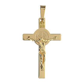 Crucifijo San Benito oro 18 k 5,6 gr 4,5x2,5 cm