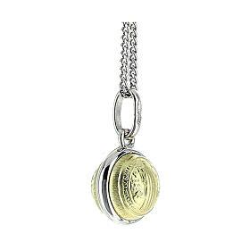 Saint Benedict medal, 18K gold and 925 silver, 4 cm diameter, 2.8 g