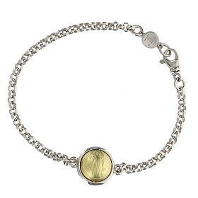 Bracciale ciondolo San Benedetto oro 18kt e argento 925
