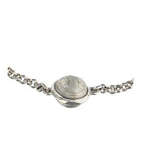 Pulseira com medalha São Bento prata 925