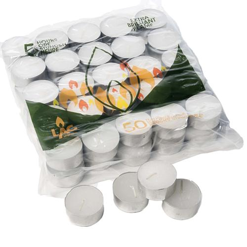 Tealight votive candles 16gr- 5 hours (50 pieces) 1