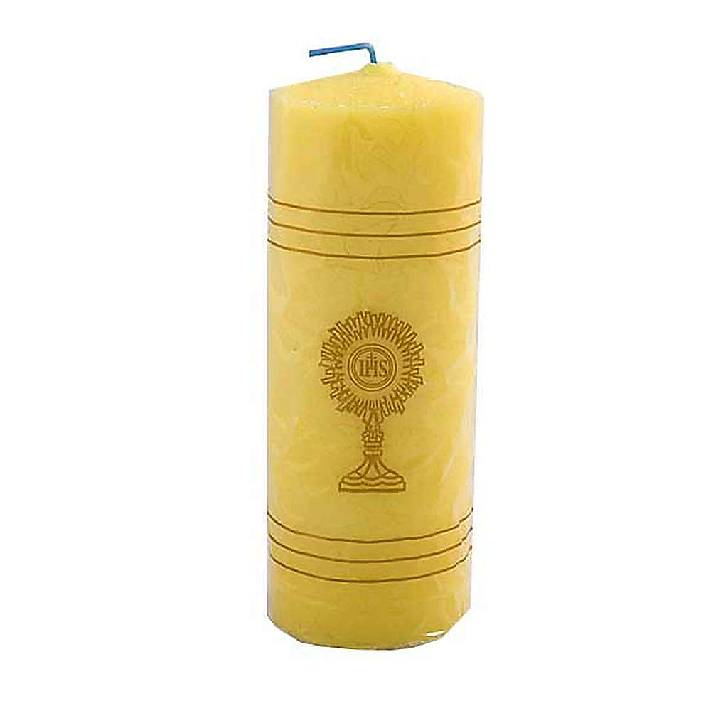 Yellow Sanctuary Candle with Monstrance- King Size 3