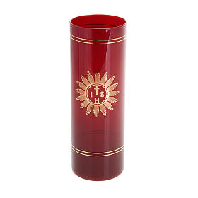 Candle ruby glass tumbler s1