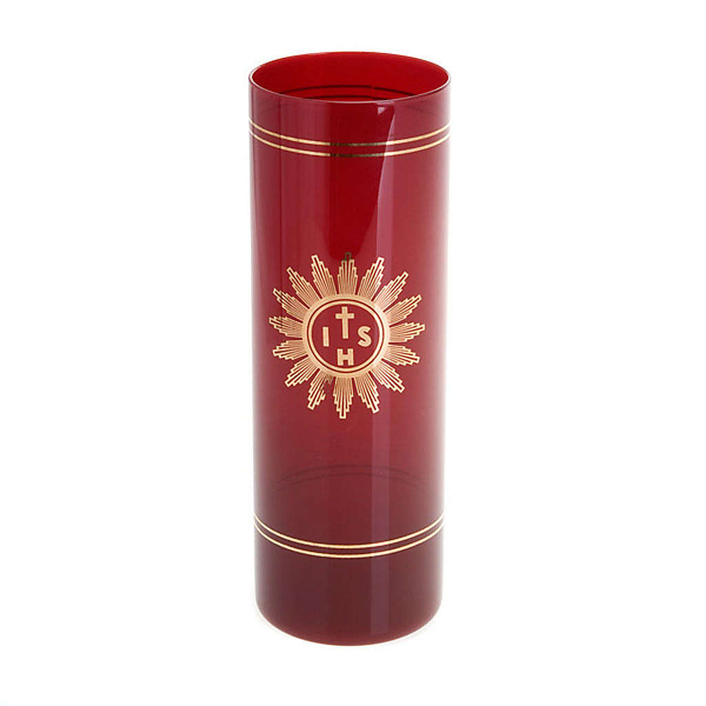 Copo vidro vermelho rubi 3