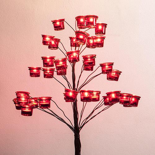 Candélabre porte-lampe en arbre 2