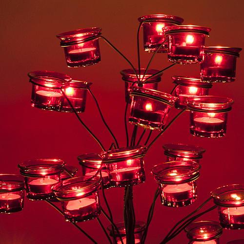 Candélabre porte-lampe en arbre 5