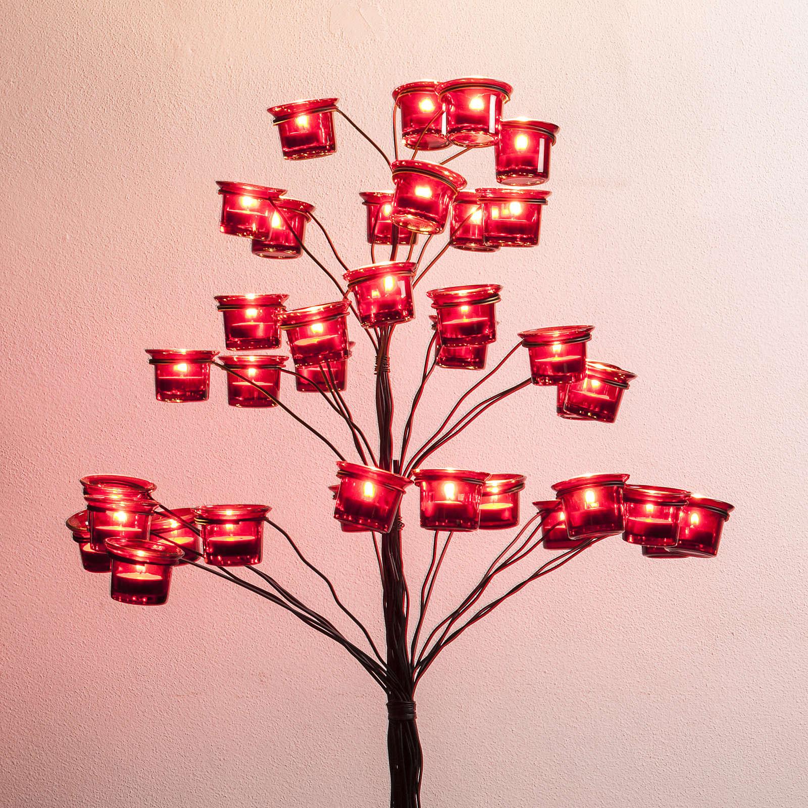 Candelabro portalumini albero 4