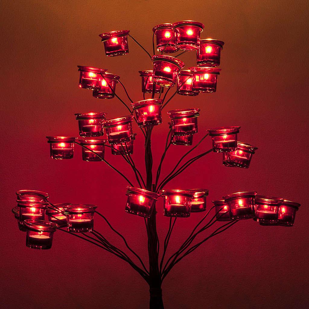 Kandelabr Świecznik na podgrzewacze drzewko 4