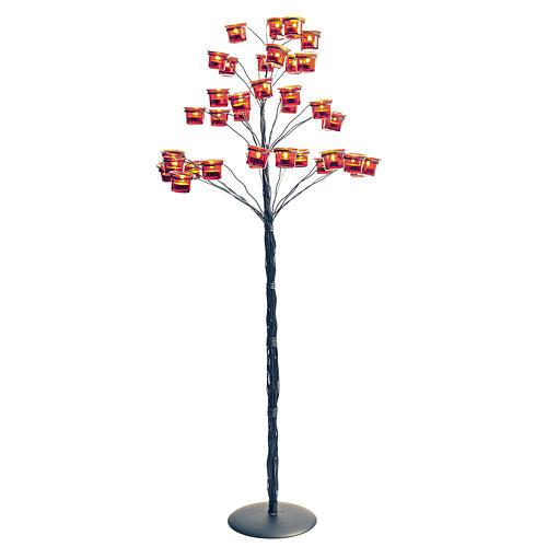 Kandelabr Świecznik na podgrzewacze drzewko 1
