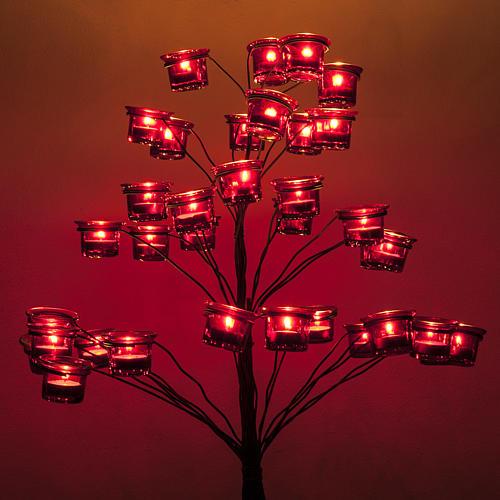 Kandelabr Świecznik na podgrzewacze drzewko 3