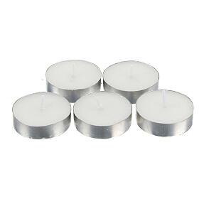Vela 2,30 horas - Tealight 10 g - Paquete de 100 velas s1