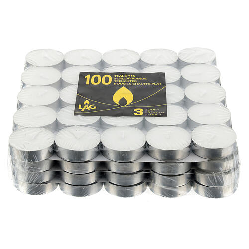 Vela 2,30 horas - Tealight 10 g - Paquete de 100 velas 2