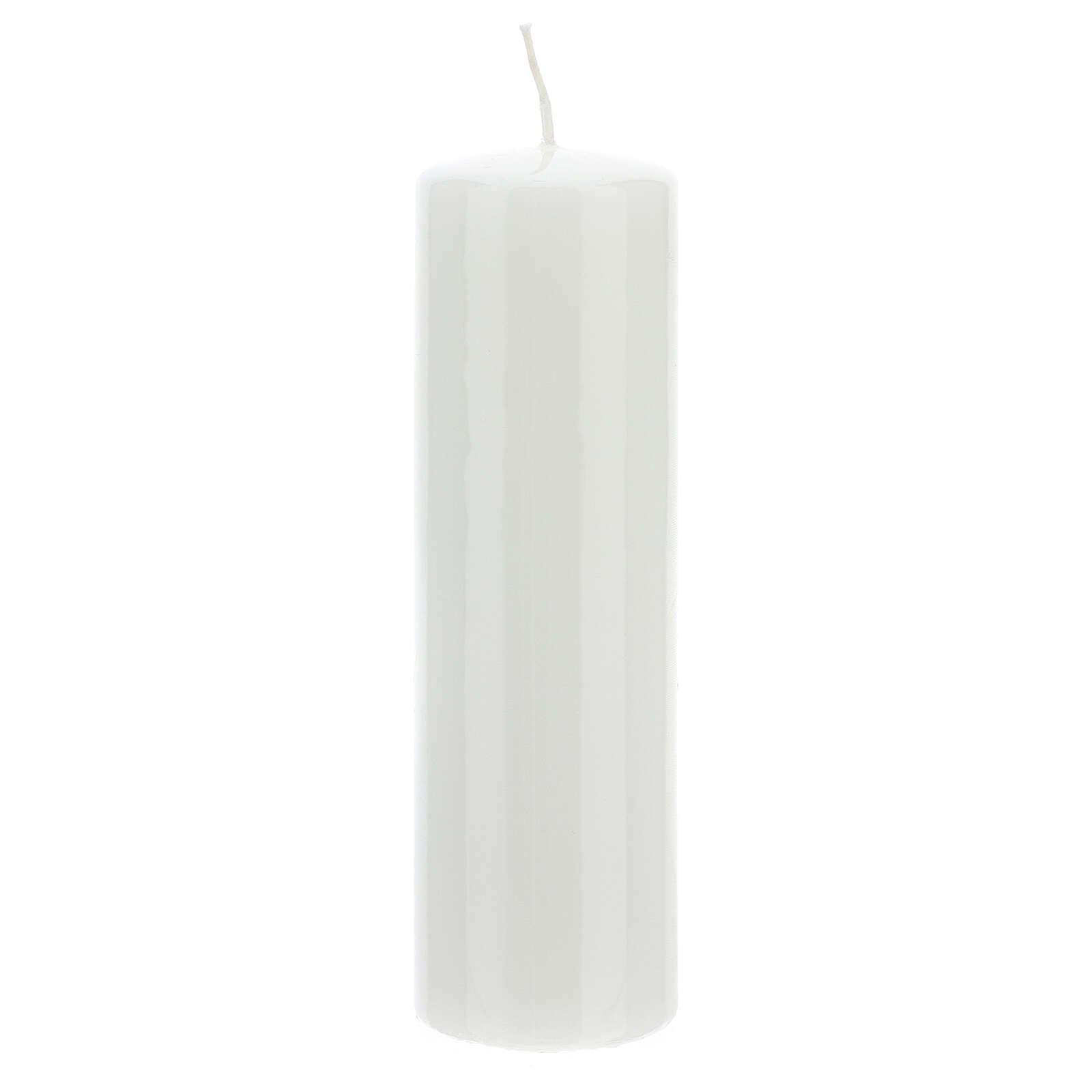 Cierge  pour autel, lucide diamètre 6 cm 3