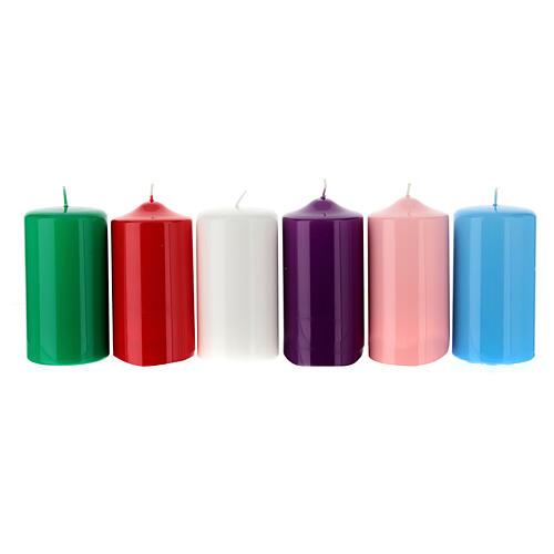 Świeczki na ołtarz błyczczące 80 X 150 mm 1