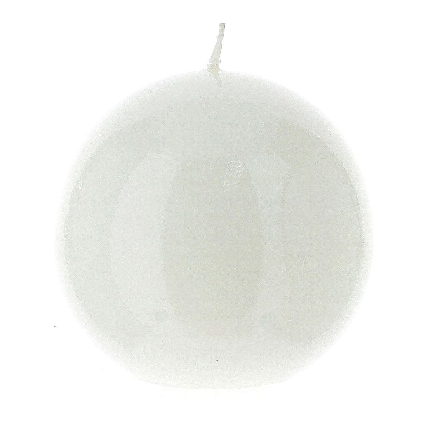 Altarkerze glänzend 10 cm kugelförmig 3