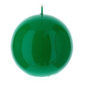 Altarkerze glänzend 10 cm kugelförmig s2