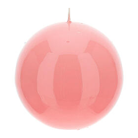 Altarkerze glänzend 10 cm kugelförmig s6
