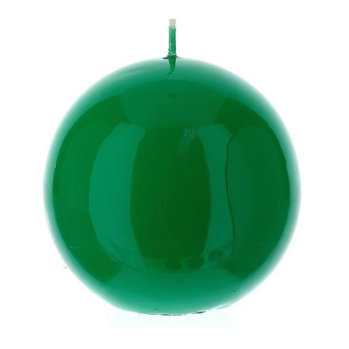 Altarkerze glänzend 10 cm kugelförmig 2