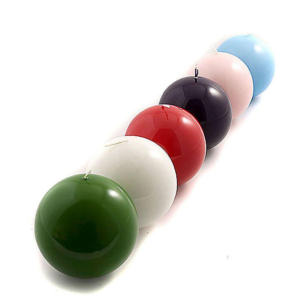 Bougie en sphère, lucide diamètre 10 cm 3