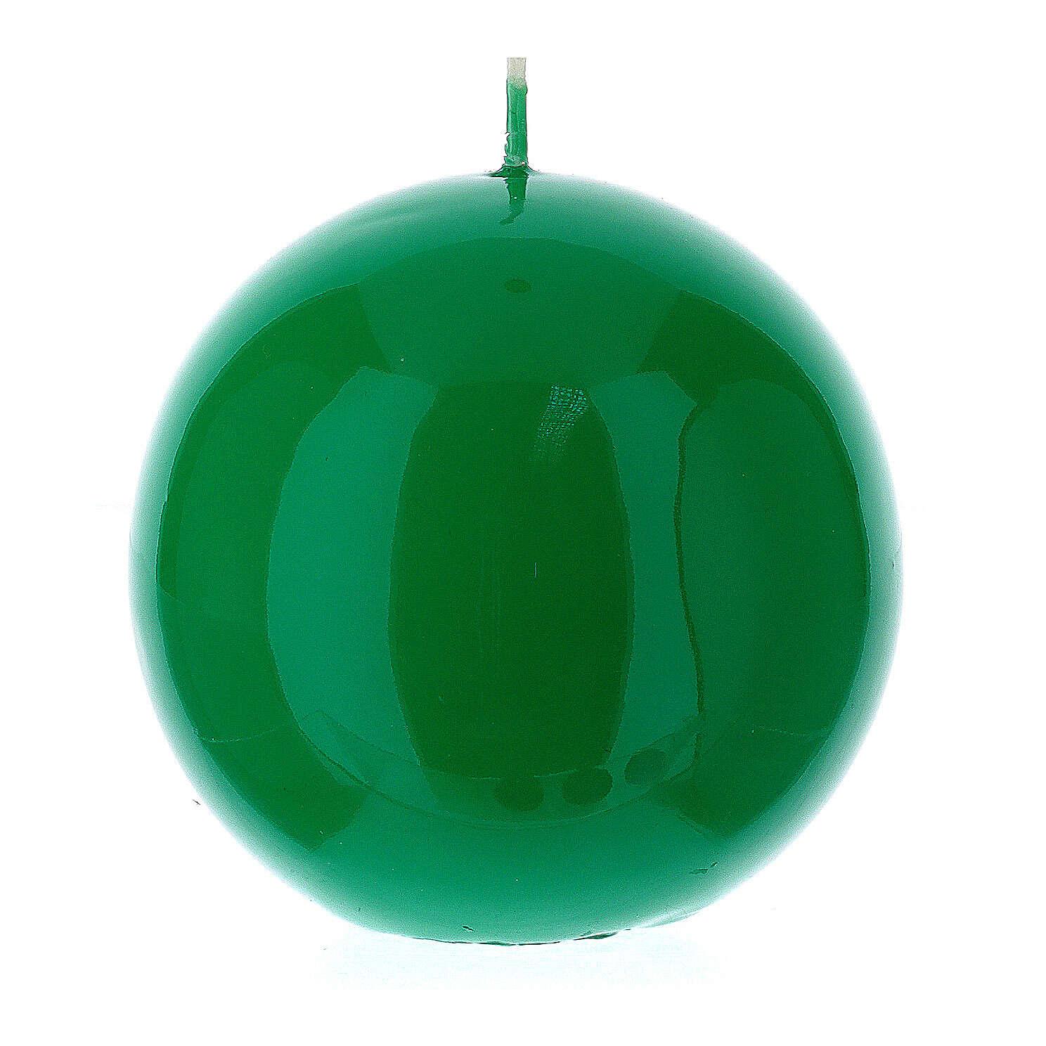 Świeczka kula błyszcząca wielkość 10cm 3