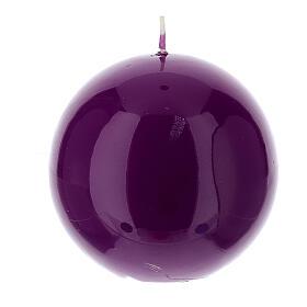 Świeczka kula błyszcząca wielkość 10cm s5