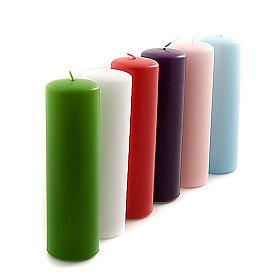 Bougies, cierges, chandelles: Cierge pour autel, opaque diamètre 6 cm