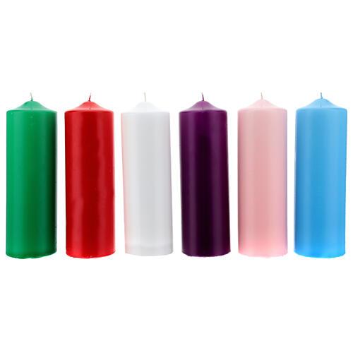 Świeczka na ołtarz matowa wymiary 80 X 240 mm 1