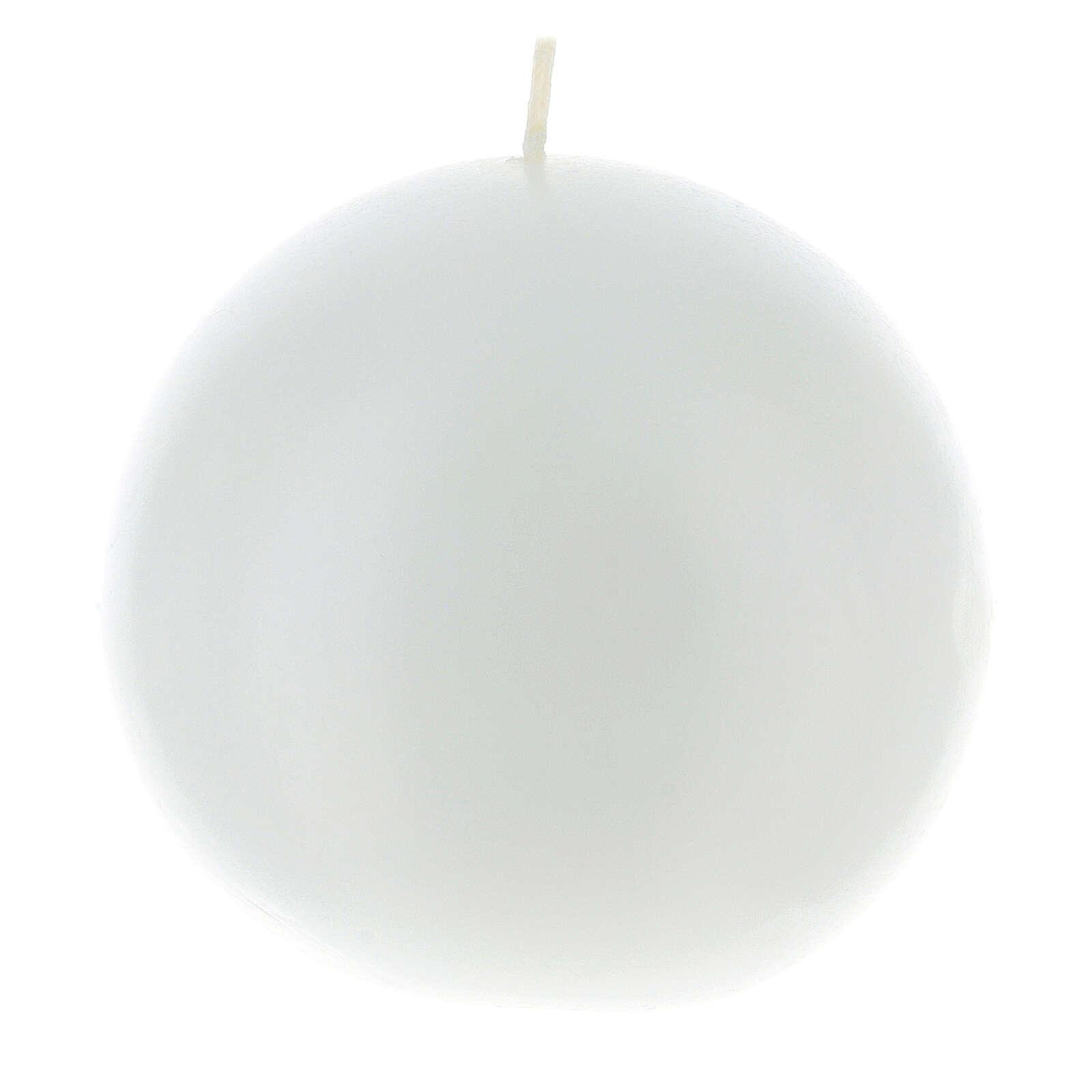 Kugelförmige Kerze, opak durchmesser 10 cm 3